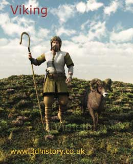 A Viking Shepherd - Viking life wasn't just about fighting