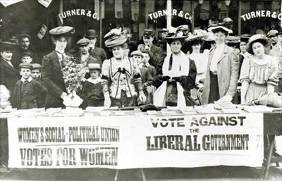 The Suffragette movement was a high profile group of that lobbied for the right for women to vote